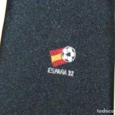 Coleccionismo deportivo: CORBATA MUNDIAL ESPAÑA 1982 SPAIN WORLD CUP ORIGINAL NEGRA OFICIAL INSTITUCIONAL TIE 05. Lote 150077506