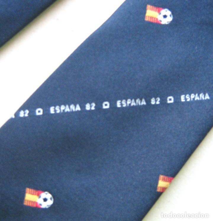 CORBATA MUNDIAL ESPAÑA 1982 SPAIN WORLD CUP OFICIAL INSTITUCIONAL AZUL BLUE TIE 06 (Coleccionismo Deportivo - Ropa y Complementos - Complementos deportes)