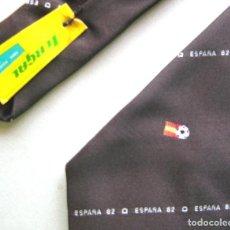 Coleccionismo deportivo: CORBATA MUNDIAL ESPAÑA 82 SPAIN WORLD CUP OFICIAL INSTITUCIONAL MARRON NECK TIE 07. Lote 150078006