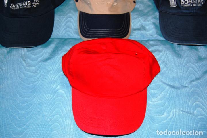 Coleccionismo deportivo: Siete gorras deportivas de diversas marcas promocionales. - Foto 9 - 152133234