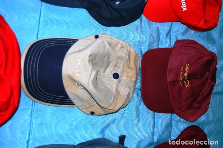 Coleccionismo deportivo: Siete gorras deportivas de diversas marcas promocionales. - Foto 10 - 152133234