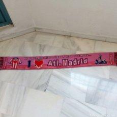 Coleccionismo deportivo: BUFANDA DE FUTBOL CHICA MUJER AT. DE MADRID. Lote 163605438