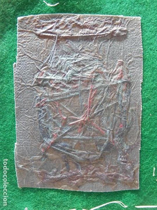 Coleccionismo deportivo: Excelente bordado. Escudo árbitro de la Federación Española de Golf. - Foto 12 - 164989002