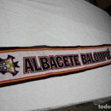Coleccionismo deportivo: BUFANDA NUEVA DEL ALBACETE BALOMPIE MODELO MUY COTIZADO Y ESCASO SCARF. Lote 166739314
