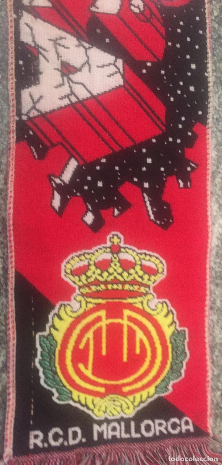 Coleccionismo deportivo: Bufanda final re copa de Europa Mallorca-Chelsea - Foto 5 - 176435717