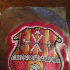 Coleccionismo deportivo: PARCHE ESCUDO BORDADO CLUB DEPORTIVO SAN ANDRES SANT ANDREU CLUB DE FUTBOL. Lote 182888437