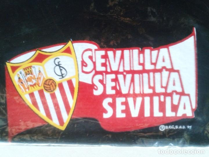 LOTE 3 BRAGA CALIENTA CUELLO SEVILLA FC NEGRA OFICIAL NUEVA Y ANTIGUA + FUNDA AÑOS '90 ORIGINAL (Coleccionismo Deportivo - Ropa y Complementos - Complementos deportes)