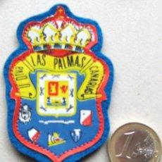 Collectionnisme sportif: ESCUDO TELA UD LAS PALMAS GRAN CANARIA ANTIGUO LOGO PARCHE FUTBOL PATCH FLICKEN R43-R. Lote 193747963