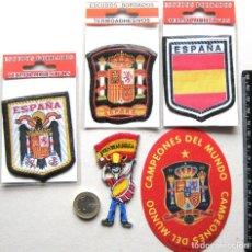 Coleccionismo deportivo: LOTE 5 ESCUDO TELA ESPAÑA SELECCIÓN FEDERACION FUTBOL LOGOS PARCHE PATCH FLICKEN R45. Lote 193748267