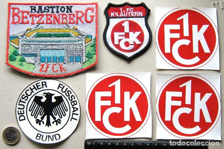 LOTE 6 ESCUDO TELA 1 FC KAISERLAUTERN + STADIUM LOGO PARCHE FUTBOL PATCH FLICKEN R46 (Coleccionismo Deportivo - Ropa y Complementos - Complementos deportes)