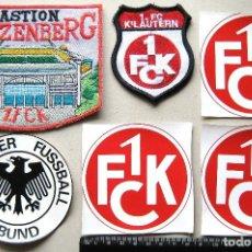 Coleccionismo deportivo: LOTE 6 ESCUDO TELA 1 FC KAISERLAUTERN + STADIUM LOGO PARCHE FUTBOL PATCH FLICKEN R46. Lote 193748456
