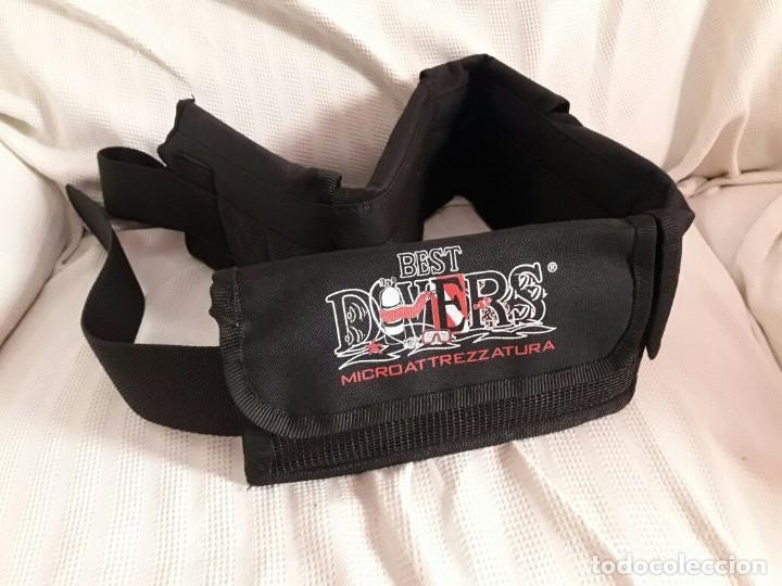 Coleccionismo deportivo: Cinturón de buceo con 5 bolsillos marca Best Divers - Foto 3 - 194146056