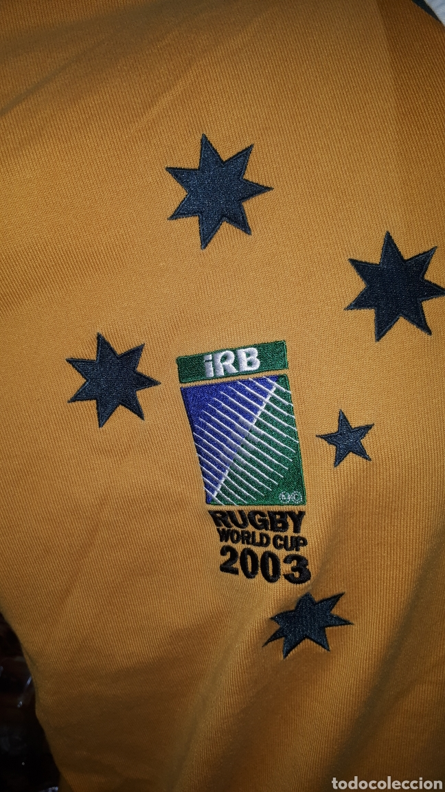 Coleccionismo deportivo: Polo original SELECCION AUSTRALIANA DE RUGBY IRB RUGBY WORLD CUP 2003 TALLA XL - Foto 3 - 196329088