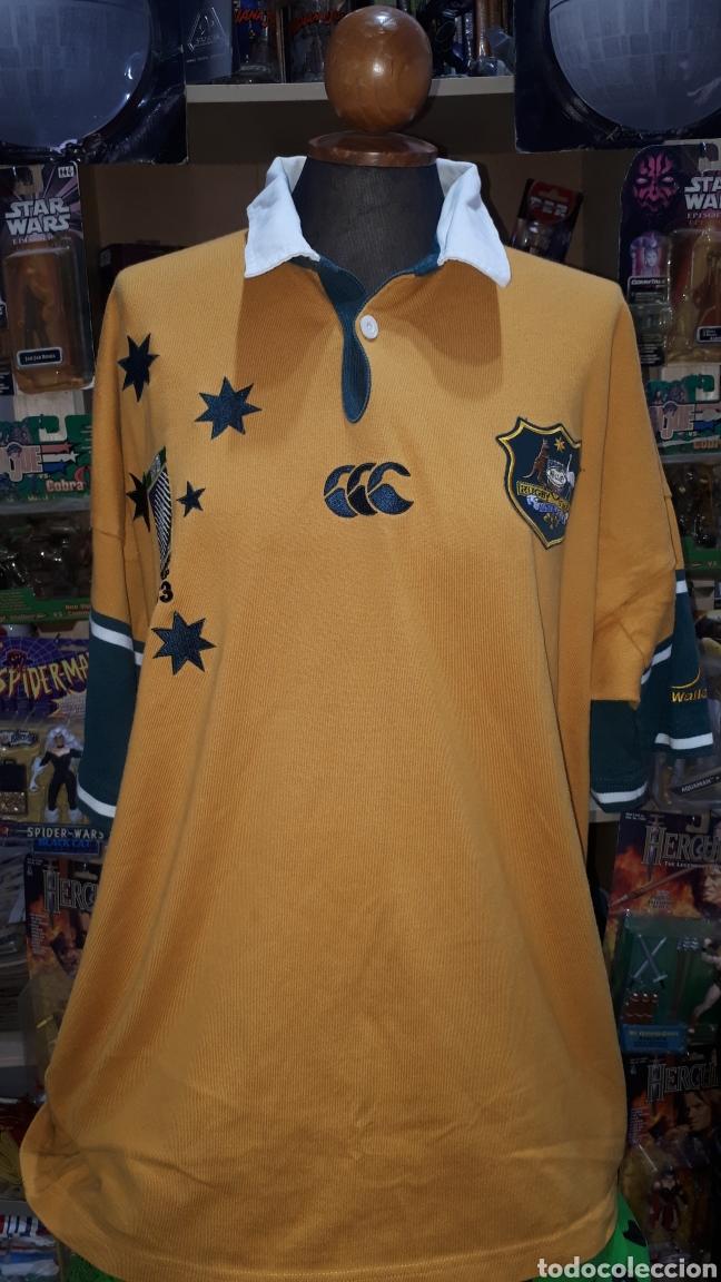 POLO ORIGINAL SELECCION AUSTRALIANA DE RUGBY IRB RUGBY WORLD CUP 2003 TALLA XL (Coleccionismo Deportivo - Ropa y Complementos - Complementos deportes)