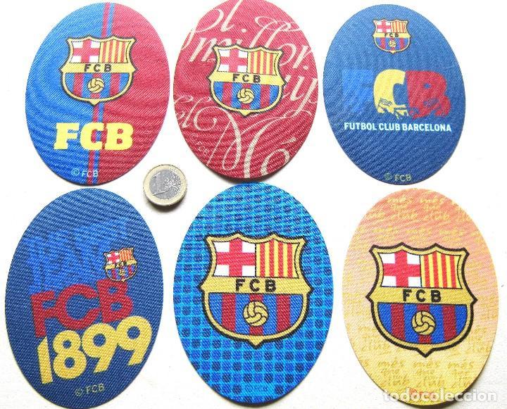 LOTE 6 ESCUDO TELA FC BARCELONA LOGO BORDADO PARCHE FUTBOL PATCH PIEDE TOPPA R59 (Coleccionismo Deportivo - Ropa y Complementos - Complementos deportes)