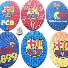 Coleccionismo deportivo: LOTE 6 ESCUDO TELA FC BARCELONA LOGO BORDADO PARCHE FUTBOL PATCH PIEDE TOPPA R59. Lote 198315063