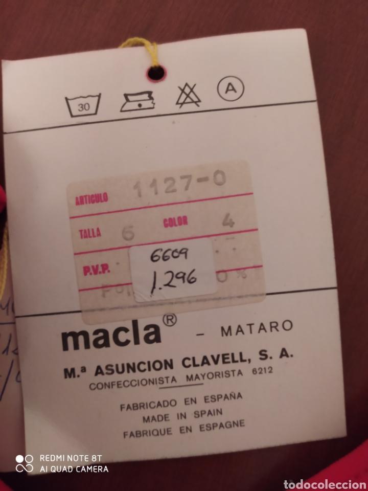 Coleccionismo deportivo: Prenda deportiva vintage MACLA, talla 6 original años 80 sin usar - Foto 4 - 200295205