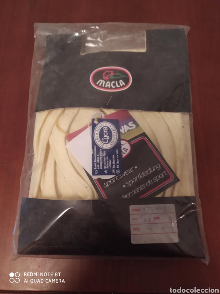 Coleccionismo deportivo: Prenda deportiva vintage MACLA, talla 42 original años 80 sin usar - Foto 8 - 200330705