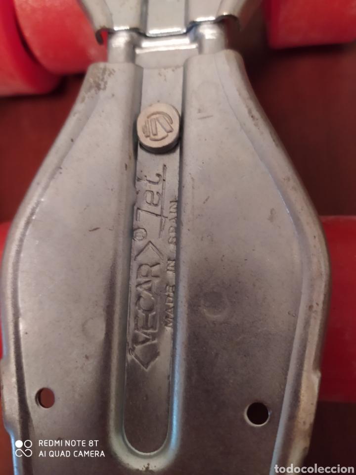 Coleccionismo deportivo: Patines vintage metal marca Vecar, talla adolescente originales años 80 sin usar - Foto 3 - 200335185