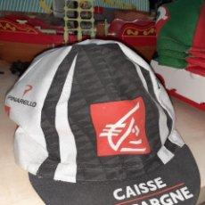 Coleccionismo deportivo: GORRA DE CICLISMO EQUIPO CAISSE D'EPARGNE.OSCAR PEREIRO 2009.. Lote 204758506