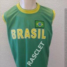 Coleccionismo deportivo: CAMISETA KELME SIN MANGAS BRASIL 100% POLIESTER TALLA XL. Lote 205040310