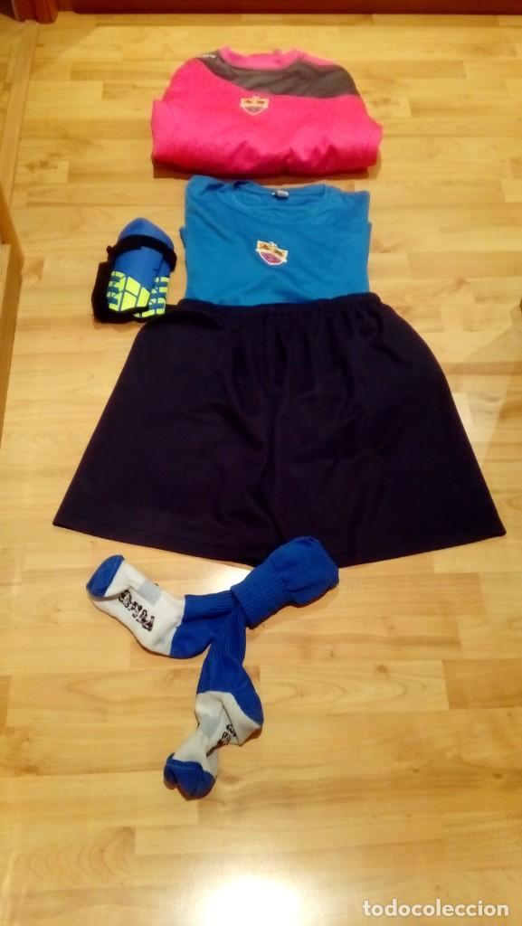 Coleccionismo deportivo: PACK EQUIPO CF ICOMAR (camiseta, sudadera, camiseta, calcetines y protecciones) - Foto 2 - 206280222