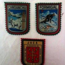 Coleccionismo deportivo: PARCHES DE ESQUI CANDANCHU - JACA - FORMIGAL. Lote 211449000