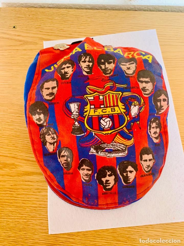GORRA Y PINS ANTIGUOS FUTBOL CLUB BARCELONA (Coleccionismo Deportivo - Ropa y Complementos - Complementos deportes)