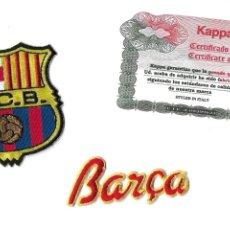 Coleccionismo deportivo: ESCUDO Y NOMRE DE TELA FUTBOL CLUB BARCELONA. KAPPA. AÑOS 90.. Lote 211681885
