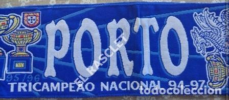 Coleccionismo deportivo: ANTIGÜA BUFANDA -SUPER PORTO - REVERSIBLE - NUEVA SIN ESTRENAR - Foto 5 - 211921926