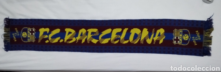 Coleccionismo deportivo: BUFANDA DEL F. C. BARCELONA - Foto 3 - 213033905