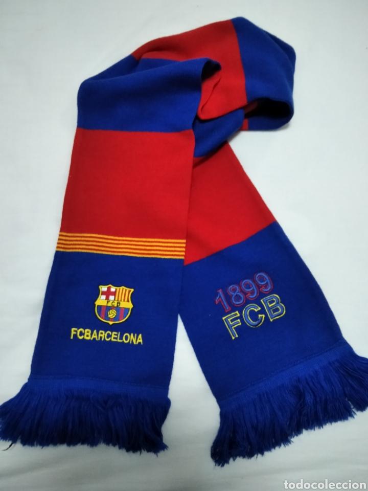 BUFANDA DEL F. C. BARCELONA. (Coleccionismo Deportivo - Ropa y Complementos - Complementos deportes)