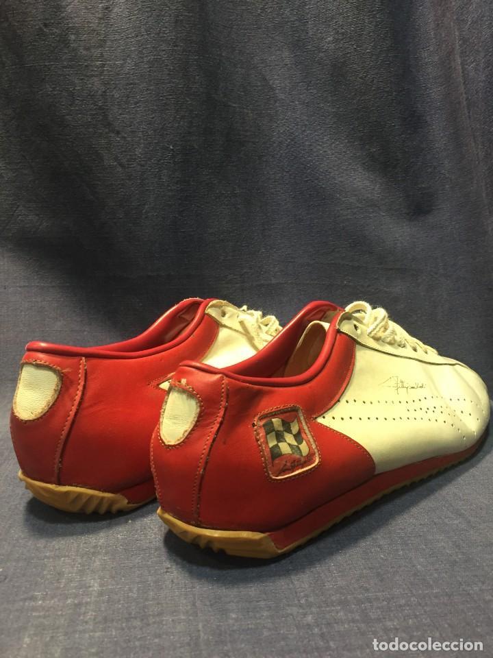 Coleccionismo deportivo: raras zapatillas firma emerson emmo fittipaldi arco puma made in brasil formula 1 11x29x10cms - Foto 2 - 213450073