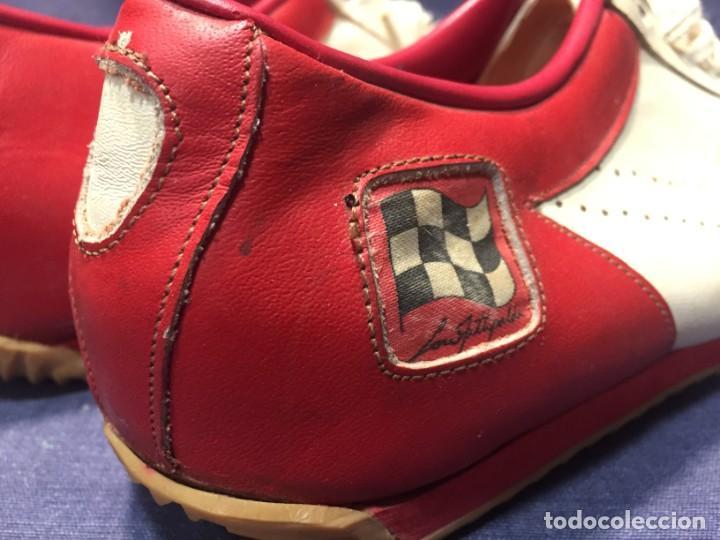 Coleccionismo deportivo: raras zapatillas firma emerson emmo fittipaldi arco puma made in brasil formula 1 11x29x10cms - Foto 3 - 213450073