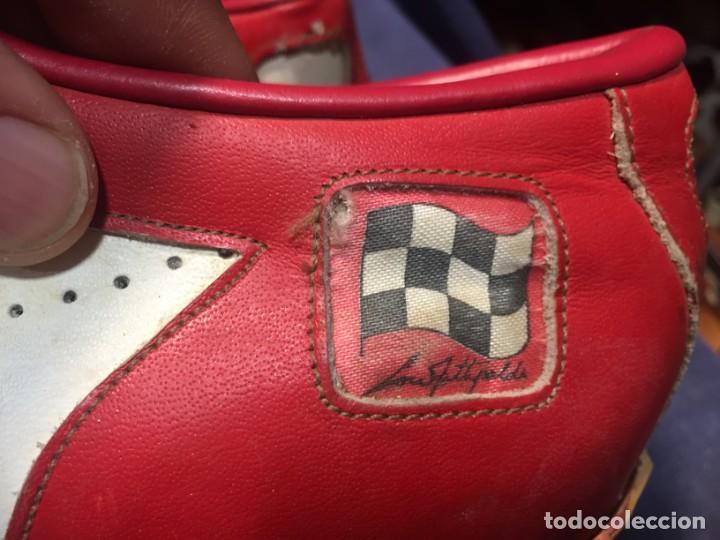 Coleccionismo deportivo: raras zapatillas firma emerson emmo fittipaldi arco puma made in brasil formula 1 11x29x10cms - Foto 17 - 213450073