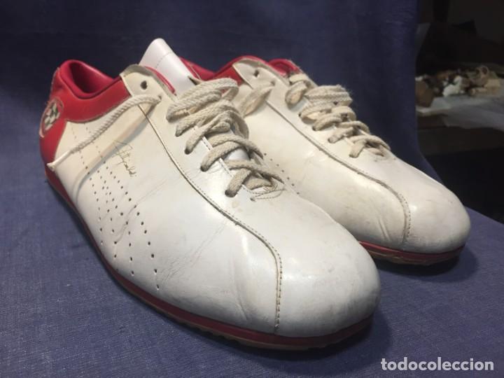 Coleccionismo deportivo: raras zapatillas firma emerson emmo fittipaldi arco puma made in brasil formula 1 11x29x10cms - Foto 27 - 213450073