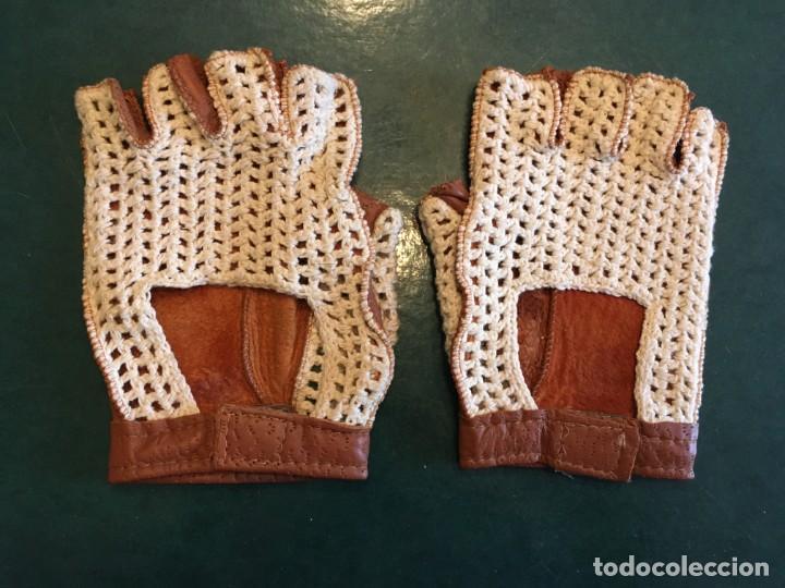 Coleccionismo deportivo: guantes para conducir o conductor, de piel , nuevos - Foto 2 - 214533363