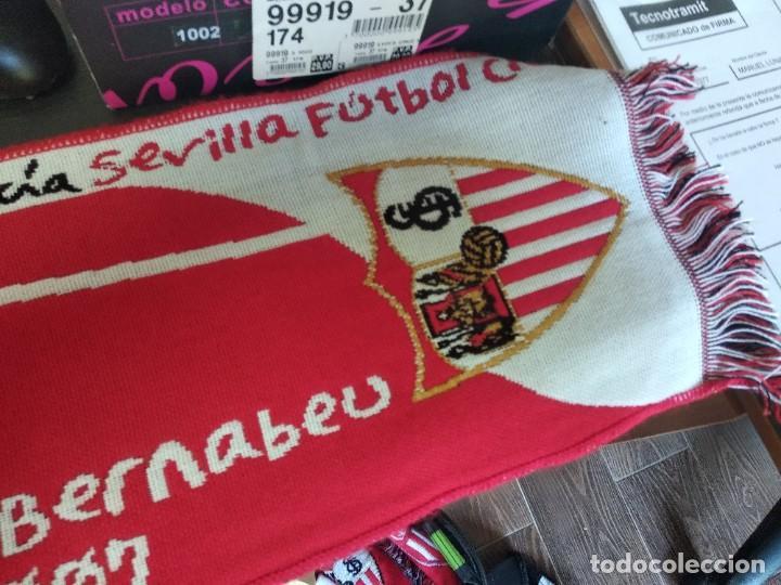 Coleccionismo deportivo: Bufanda Sevilla FC FINAL COPA DEL REY SANTIAGO BERNABEU 23/06/2007 - Foto 2 - 214662421