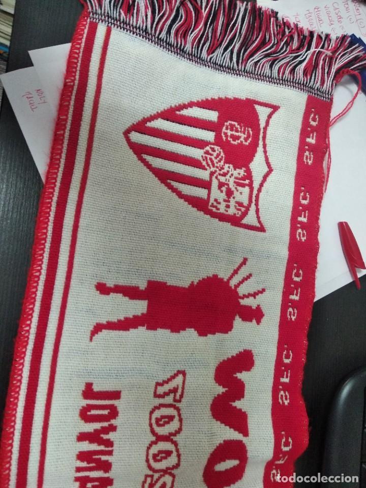 Coleccionismo deportivo: Bufanda Sevilla FC FINAL COPA HUEFA 16/MAYO/2007 GLASGOW SEVILLA ESPAÑOL - Foto 3 - 214662621