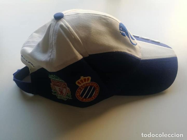 Coleccionismo deportivo: Gorra conmemorativa nuevo estadio RCD Espanyol - Foto 3 - 216898203