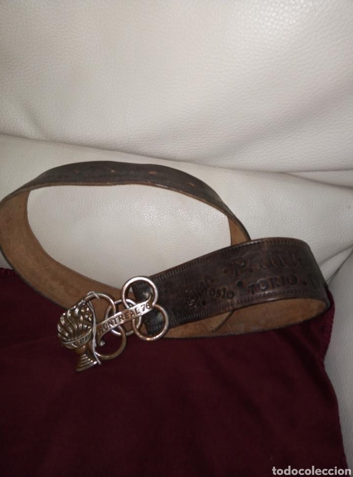 Coleccionismo deportivo: Cinturón de cuero Montreal 76 Juegos Olímpicos. - Foto 2 - 219364026