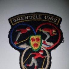 Coleccionismo deportivo: PARCHE TELA JUEGOS OLIMPICOS GRENOBLE 1968. Lote 222075056