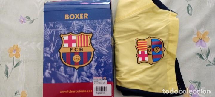 CALZONCILLOS BOXER BARÇA FCB BARCELONA SU CAJA OFICIAL NUEVO (Coleccionismo Deportivo - Ropa y Complementos - Complementos deportes)