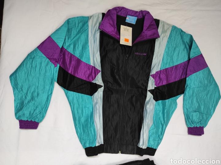 Coleccionismo deportivo: Chándal Adidas hecho en España Años 80 SIN USO Procedente de tienda de deportes - Foto 2 - 225739938