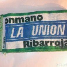 Coleccionismo deportivo: BUFANDA - FOULARD - CLUB DE BALÓNMANO CEMENTOS LA UNIÓN - RIBARROJA - TARRAGONA - 19 X 145 CM. Lote 236219735