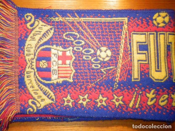 BUFANDA - FOULARD - F.C.B - FUTBOL CLUB BARCELONA - 19 X 130 CM - OFICIAL (Coleccionismo Deportivo - Ropa y Complementos - Complementos deportes)