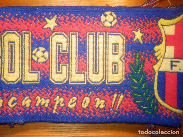Coleccionismo deportivo: BUFANDA - FOULARD - F.C.B - Futbol Club Barcelona - 19 X 130 CM - Oficial - Foto 2 - 236238520