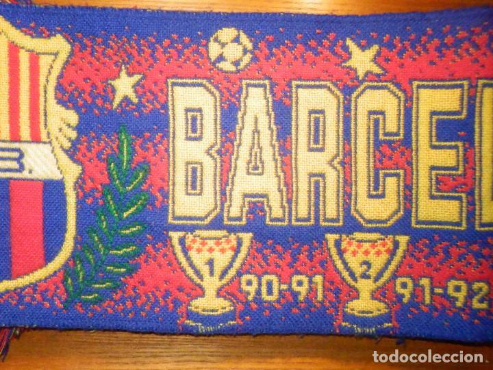 Coleccionismo deportivo: BUFANDA - FOULARD - F.C.B - Futbol Club Barcelona - 19 X 130 CM - Oficial - Foto 3 - 236238520