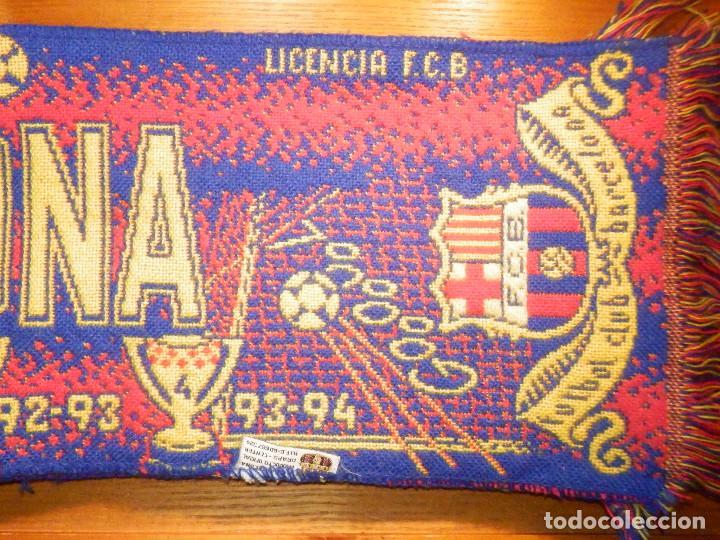 Coleccionismo deportivo: BUFANDA - FOULARD - F.C.B - Futbol Club Barcelona - 19 X 130 CM - Oficial - Foto 4 - 236238520