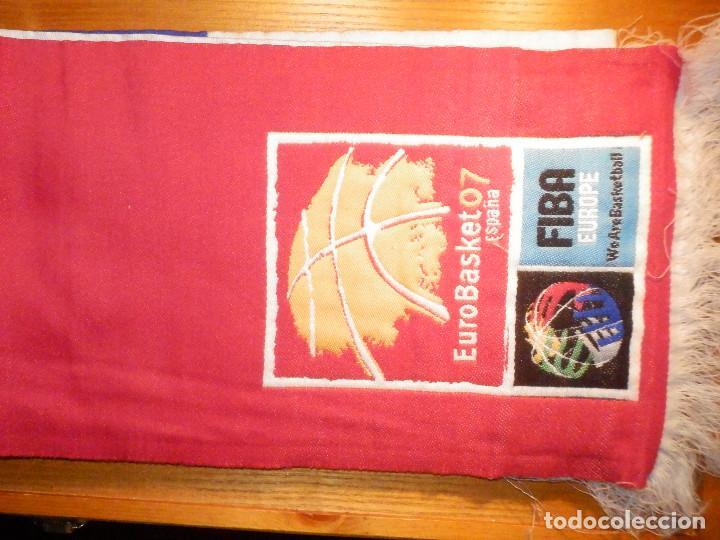 Coleccionismo deportivo: Bufanda - Foulard - F.C. - Club de Futbol - Selección - Francia - Euro Basket 07 - 20 x 140 cm - Foto 3 - 237515885